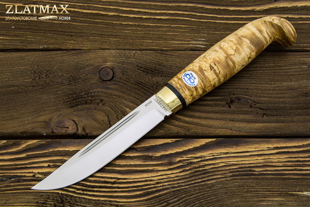Нож Финка Lappi (М390, Карельская берёза, Латунь) фото-01