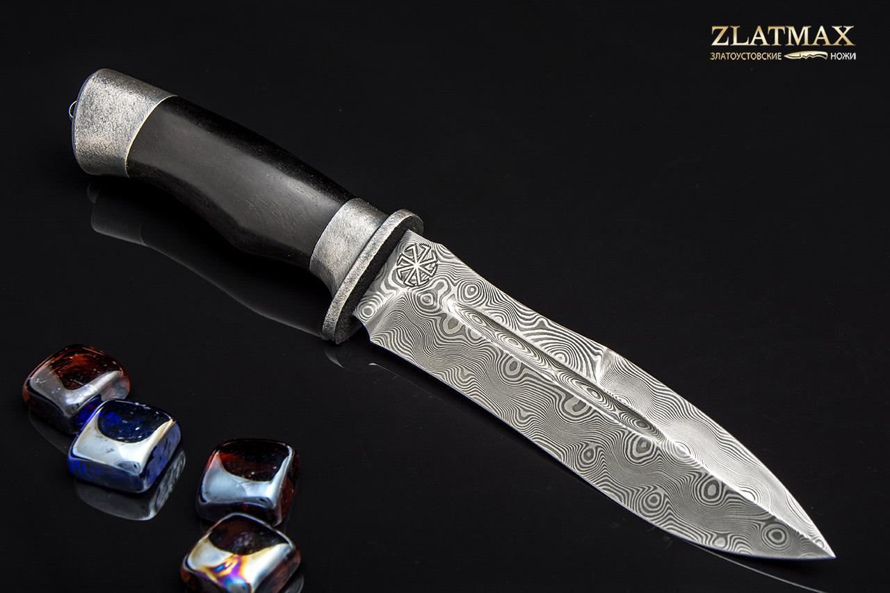 Нож Скорпион ДН (Дамаск ZDI-1016, Граб, Алюминий) фото 01