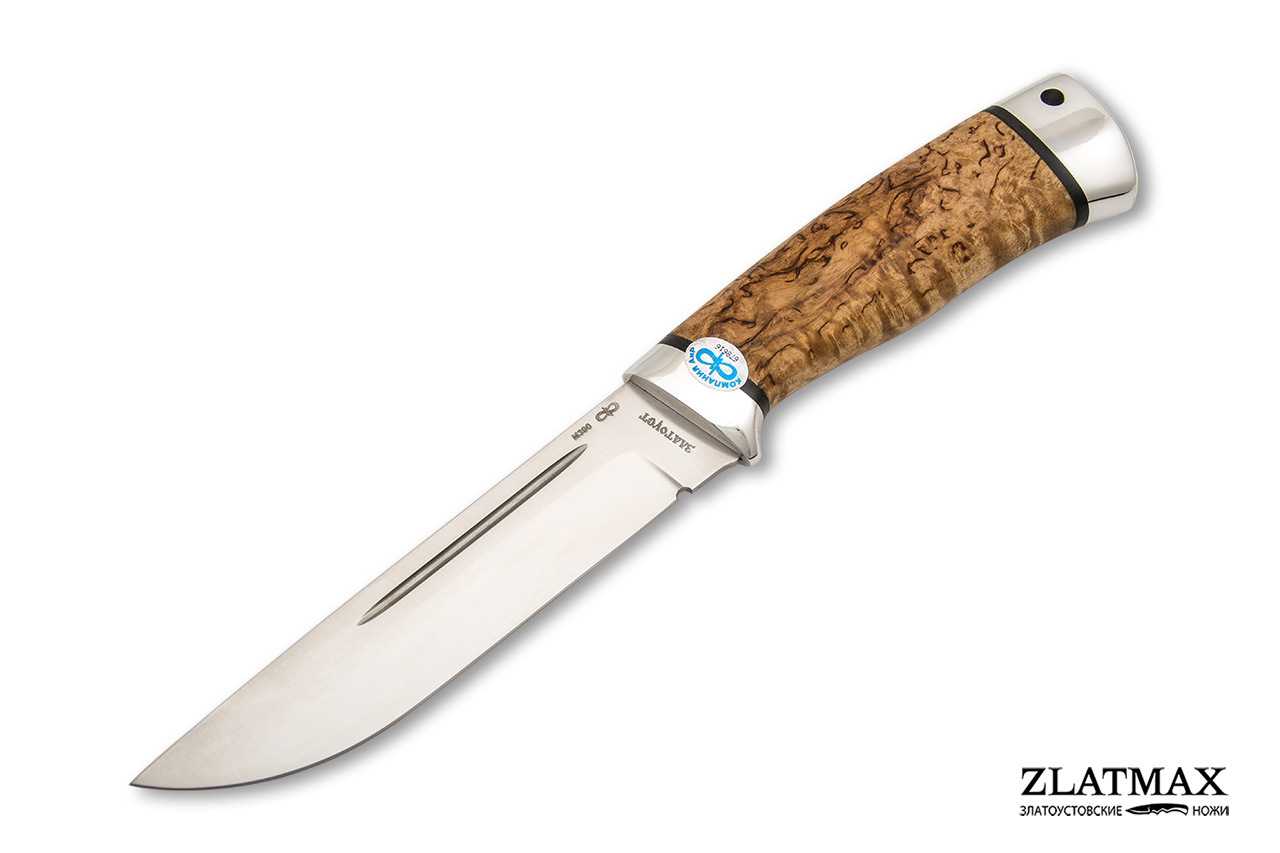 Нож Бекас (М390, Карельская берёза, Алюминий) фото 01