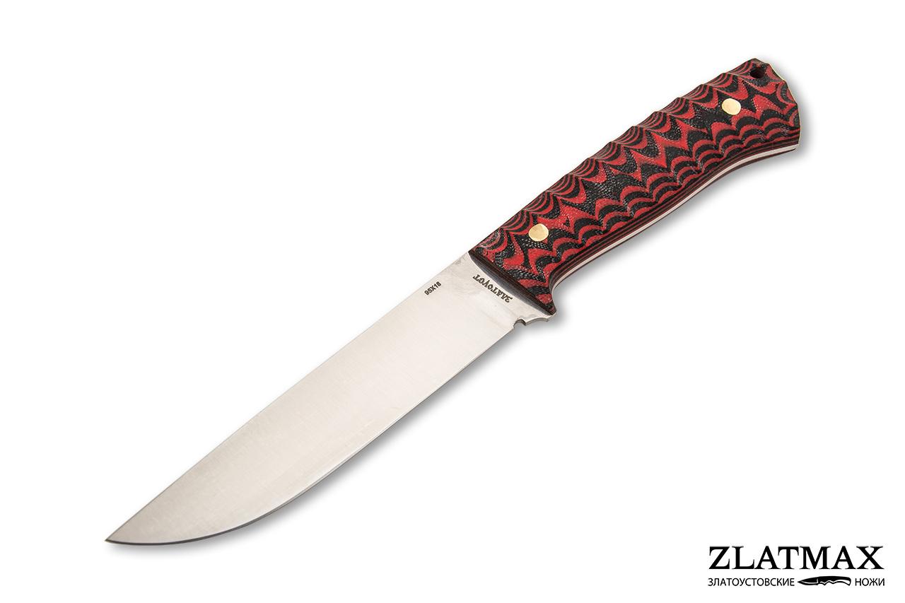 Нож Бекас ЦМ  с прямыми спусками (95Х18, Накладки G10) фото-01