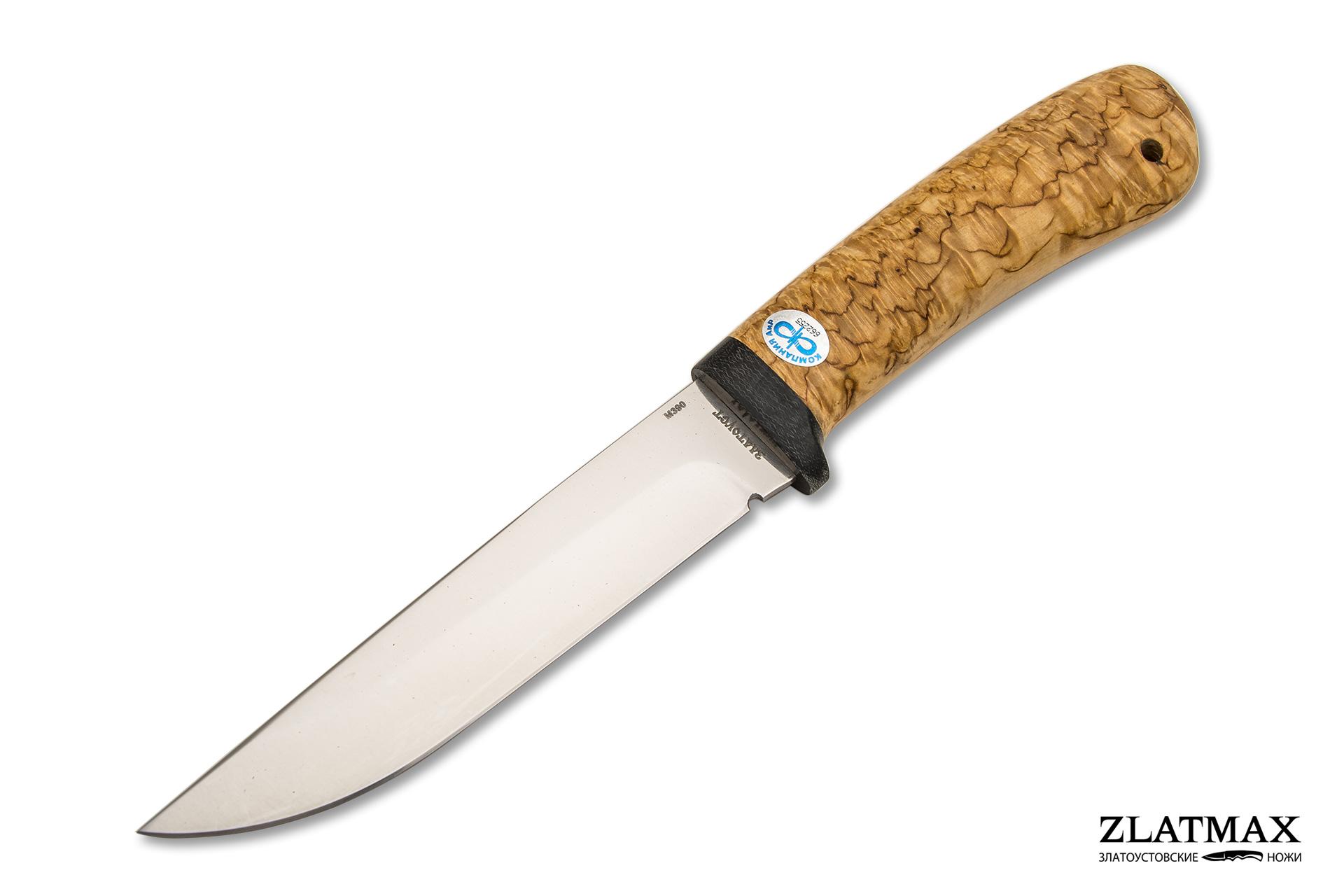 Нож Лиса (М390, Карельская берёза, Текстолит) фото 01