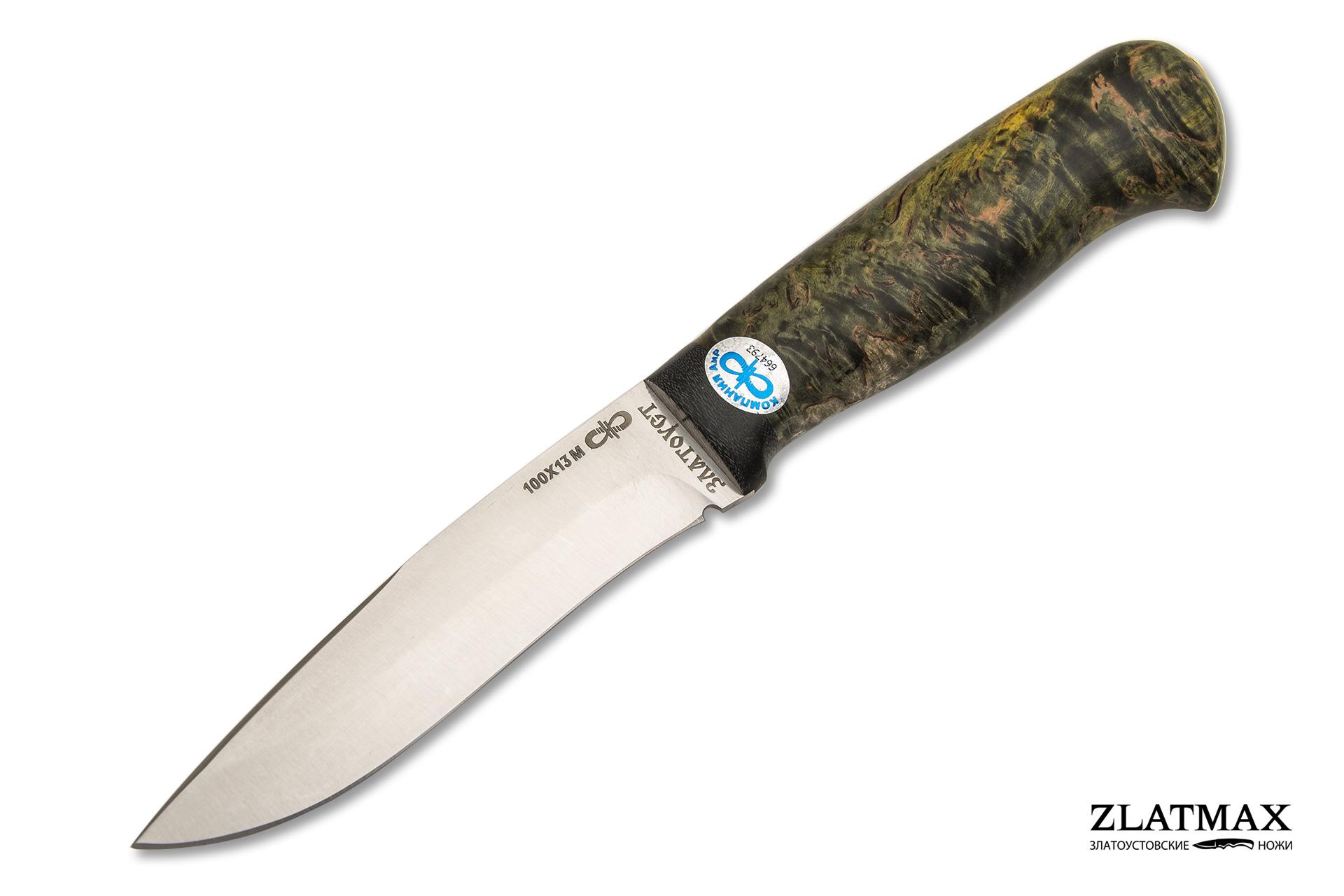 Нож Шаман-2 (100Х13М, Стабилизированная карельская береза, Текстолит) фото 01