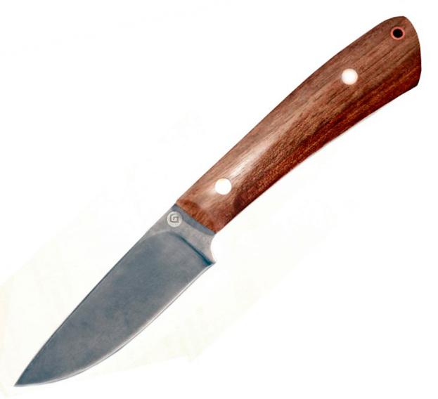 Нож R001 (Литой булат, Накладки орех) фото 01
