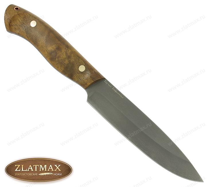 Нож R005 (Литой булат, Накладки орех) фото-01