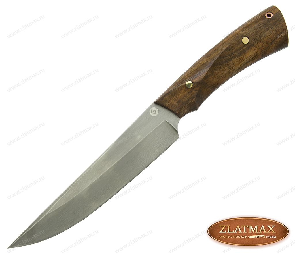 Нож R008 (Литой булат, Накладки орех) фото-01