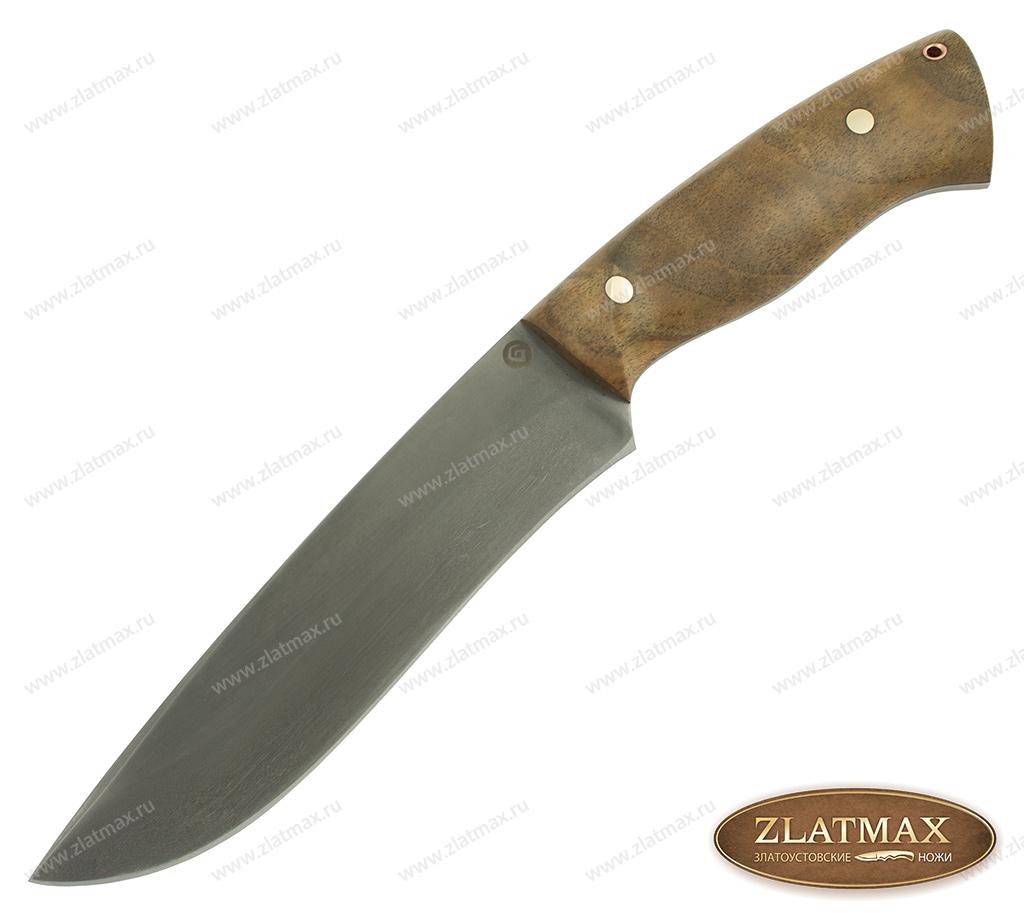 Нож R015 (Литой булат, Накладки орех) фото 01