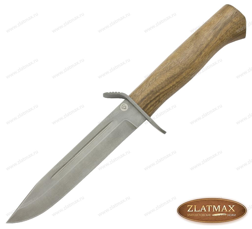 Нож T002 Разведчик (Литой булат, Орех, Нержавеющая сталь) фото 01