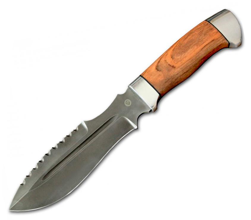 Нож V001 (Литой булат, Орех, Алюминий) фото 01