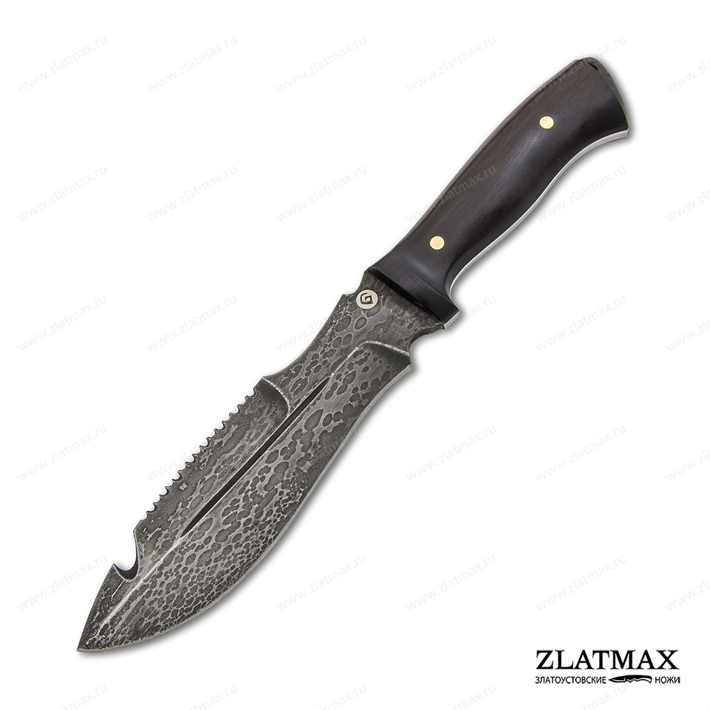 Нож V001 (Литой булат, Накладки граб) фото 01