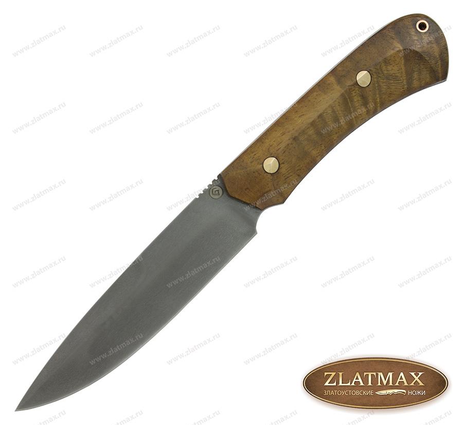 Нож R003 (Литой булат, Накладки орех) фото 01