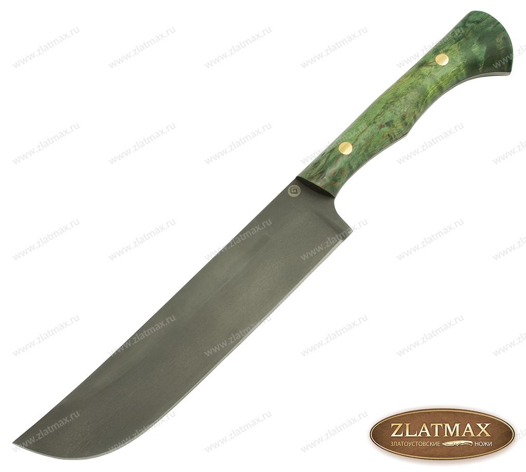 Узбекский нож Пчак K005 (Литой булат, Накладки карельская береза) фото 01