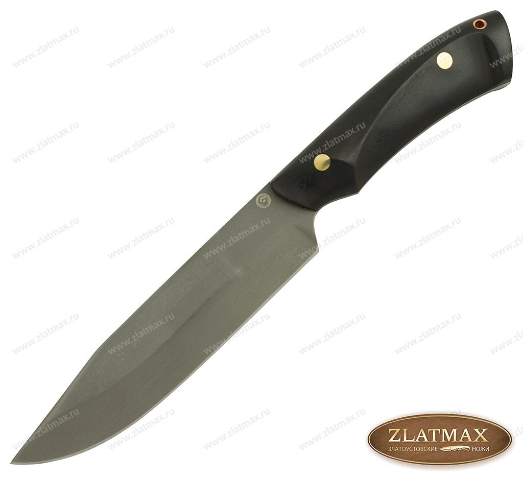 Нож R009 (Литой булат, Накладки граб) фото-01