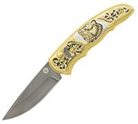 Нож складной из литого булата НС-1М