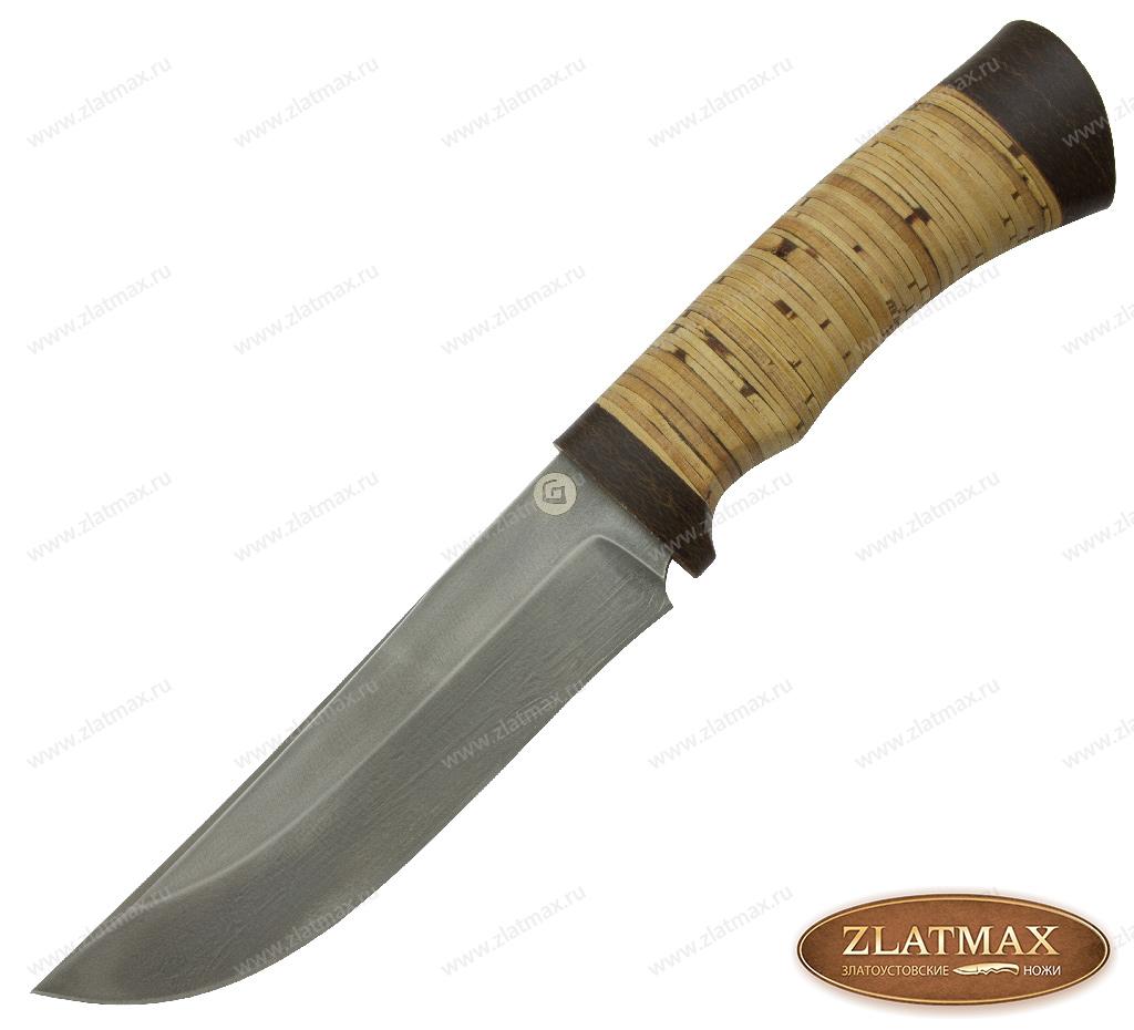 Нож R012 (Литой булат, Наборная береста, Текстолит) фото 01