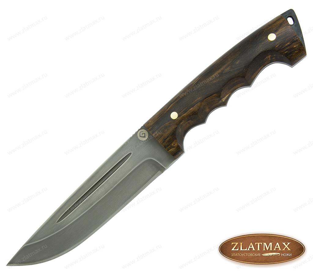 Нож R010-RG Спасатель (Литой булат, Накладки стабилизированная карельская береза) фото-01