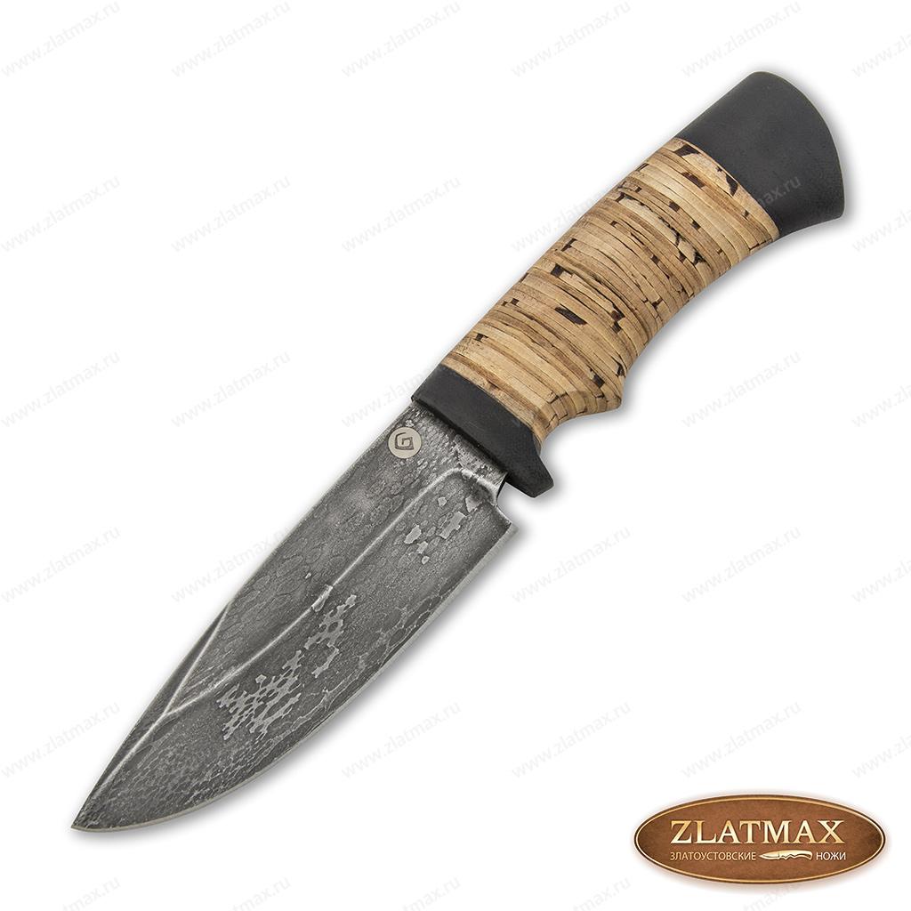 Нож S004 (Литой булат, Наборная береста, Текстолит) фото 01