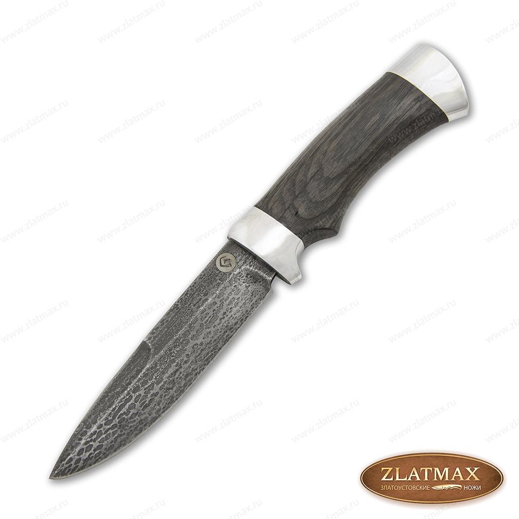 Нож R003 (Литой булат, Орех, Алюминий) фото-01