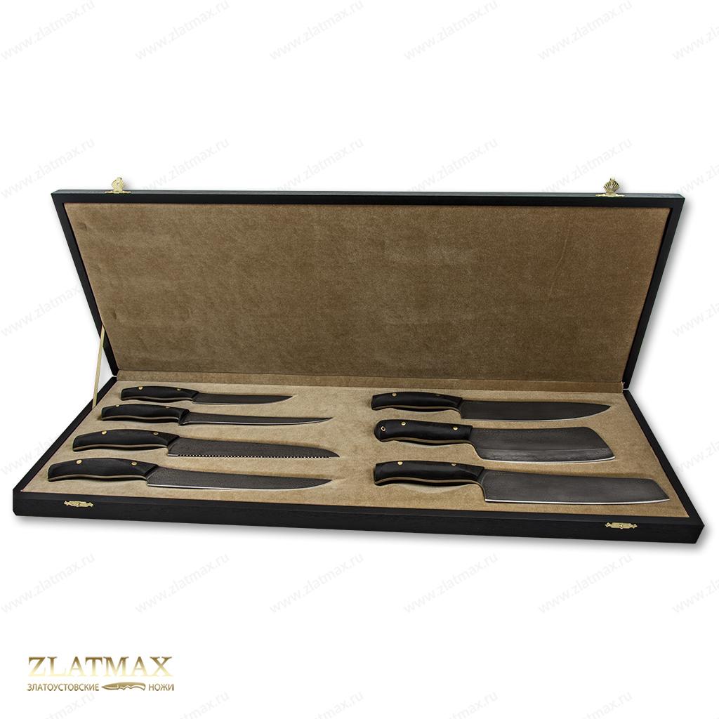 Набор кухонных ножей №5 (Литой булат, Накладки микарта) фото 01