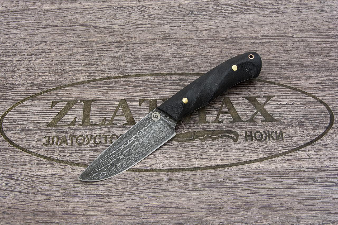 Нож R001 (Литой булат, Накладки микарта) фото 01