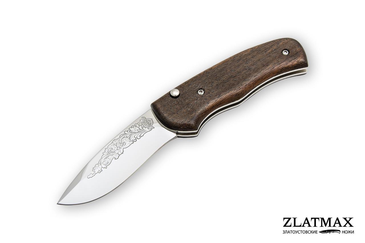 Нож автоматический НС-4м (40Х10С2М, Накладки орех) фото 01