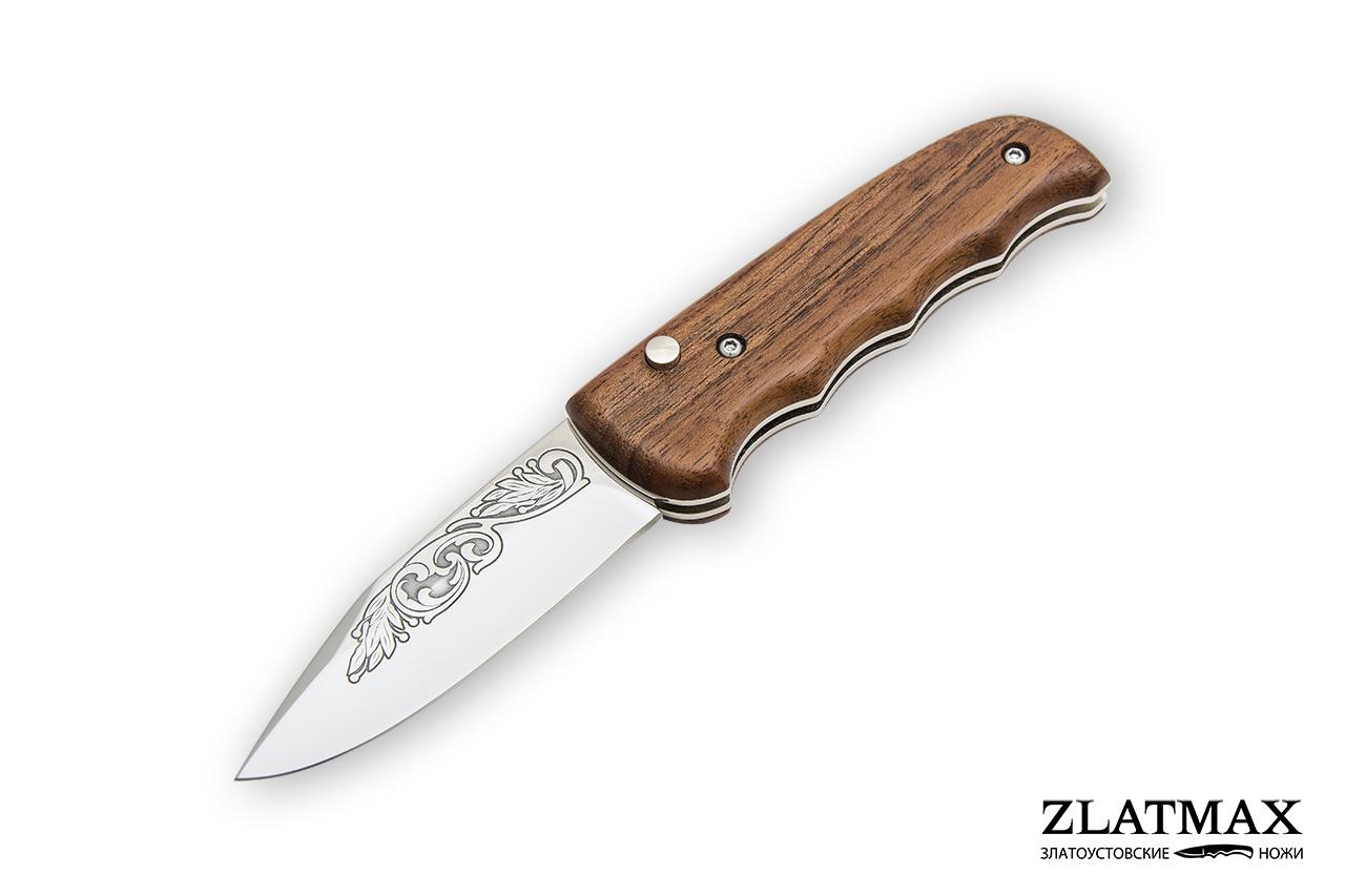 Нож автоматический НС-7 (40Х10С2М, Накладки орех) фото 01