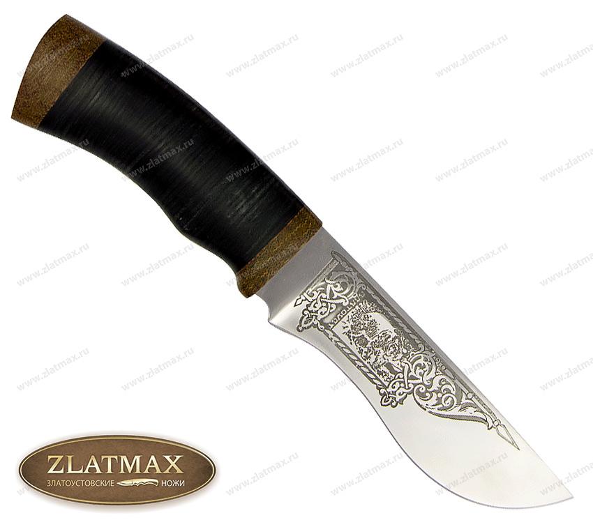 Нож Тунгус (95Х18, Наборная кожа, Текстолит) фото 01