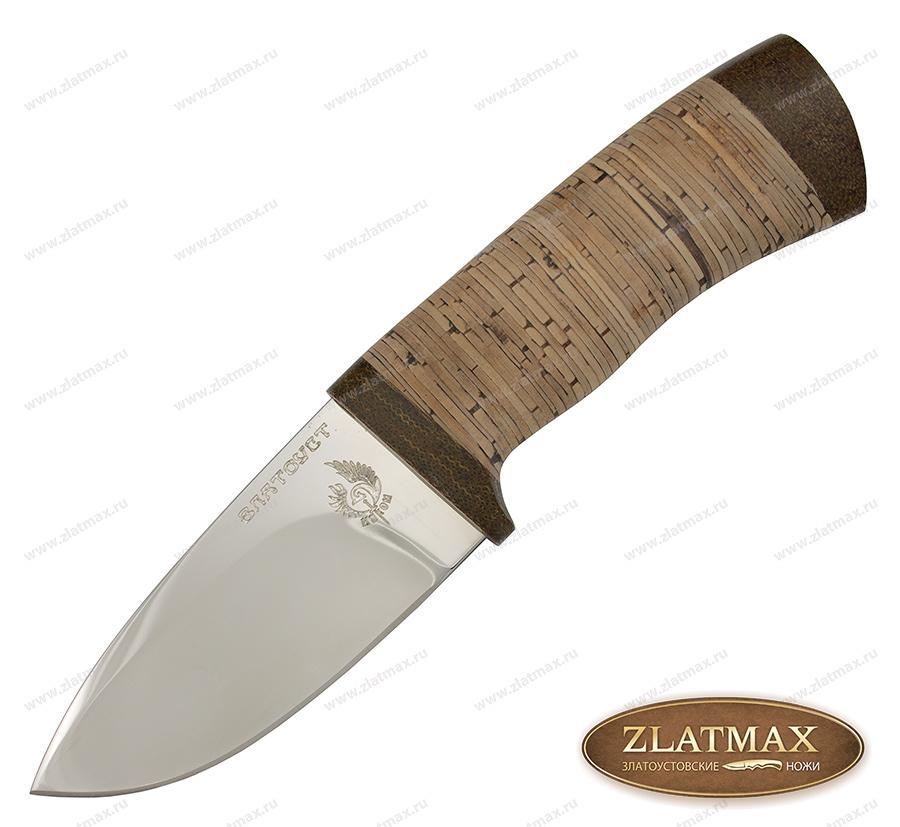 Нож Миша (40Х10С2М, Наборная береста, Текстолит) фото 01