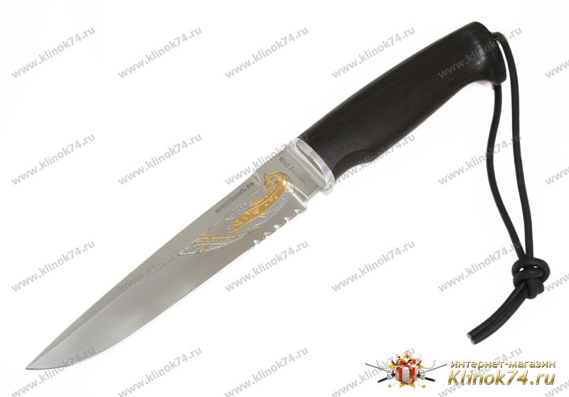 Нож Барракуда престиж (95Х18, Граб, Алюминий) фото 01