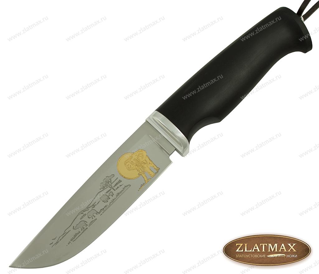 Нож Таежный (Сафари) (95Х18, Граб, Алюминий) фото 01