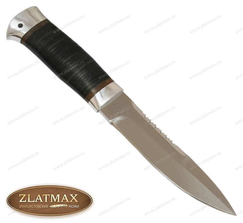 Нож Спас-2 (40Х10С2М, Наборная кожа, Алюминий) фото-01