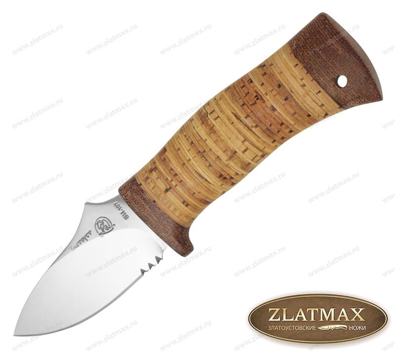 Нож Жало (40Х10С2М, Наборная береста, Текстолит) фото 01