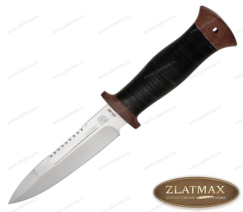Нож Спас-6 (40Х10С2М, Наборная кожа, Текстолит) фото 01