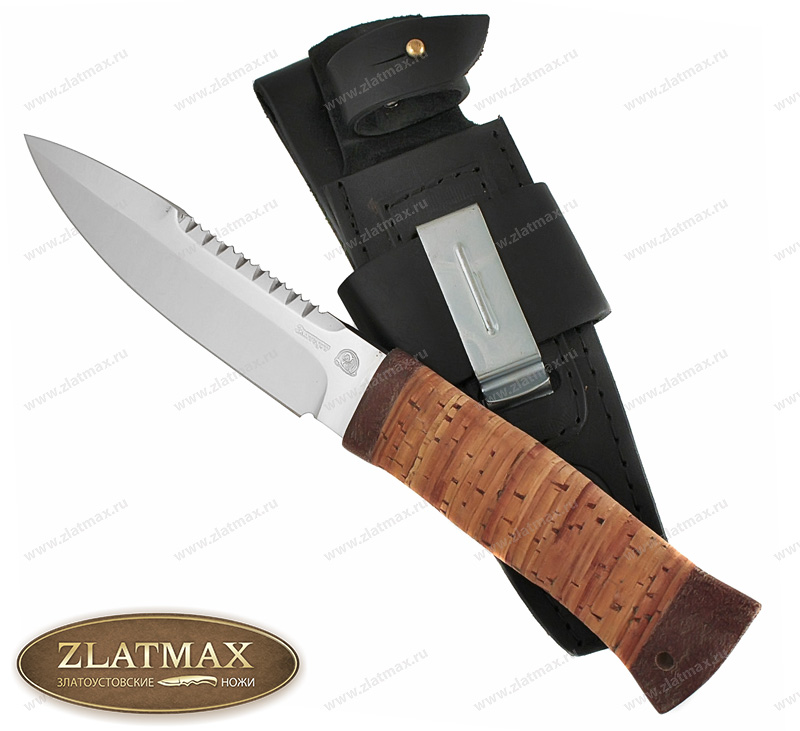 Нож Спас-2 (40Х10С2М, Наборная береста, Текстолит) фото 01