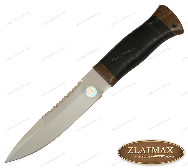 Нож Спас-2 (40Х10С2М, Наборная кожа, Текстолит) фото 01