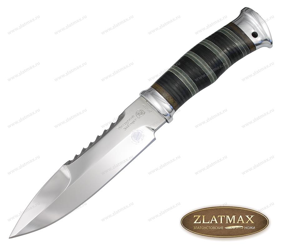 Нож Спас-1 МЧС (40Х10С2М, Комбинированная наборная кожа, Алюминий) фото 01
