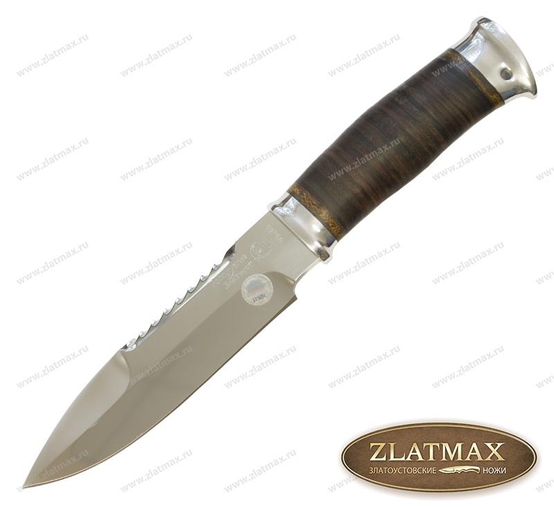 Нож Спас-1 МЧС (40Х10С2М, Наборная кожа, Алюминий) фото 01
