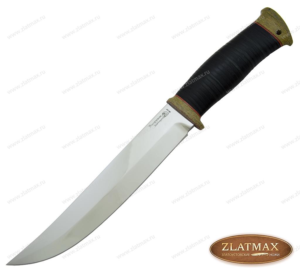 Нож Атаман (40Х10С2М, Наборная кожа, Текстолит) фото-01