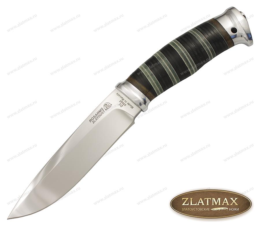 Нож Артыбаш EX (40Х10С2М, Наборная кожа, Алюминий) фото-01