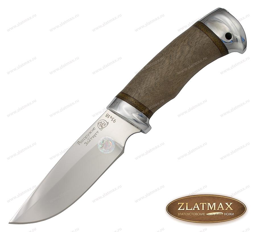 Нож Сталкер-2 (95Х18, Орех, Алюминий) фото 01