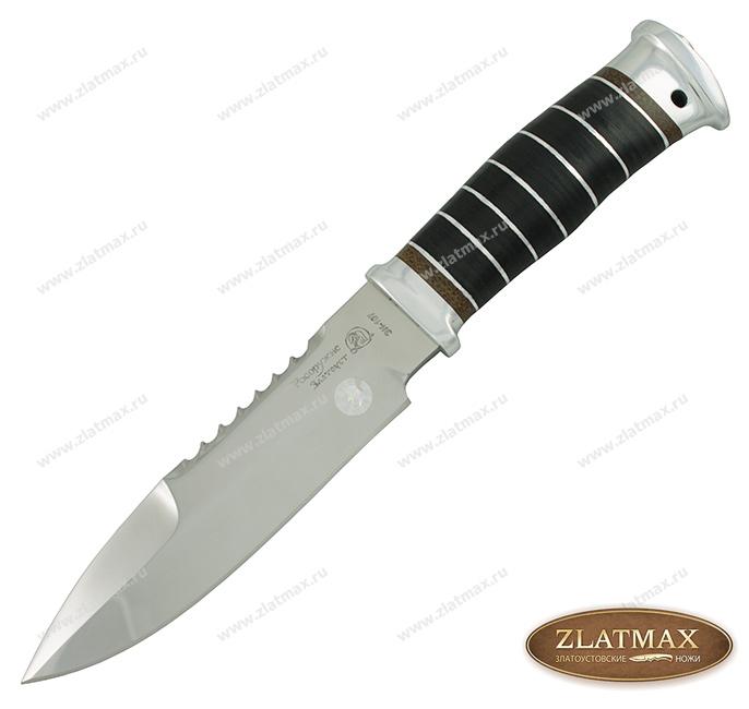 Нож Спас-1 Погранвойска (40Х10С2М, Наборная кожа, Алюминий) фото-01