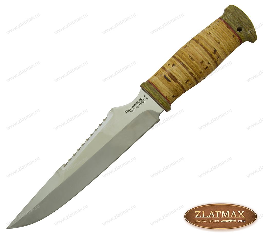 Нож Федерал (40Х10С2М, Наборная береста, Текстолит) фото 01