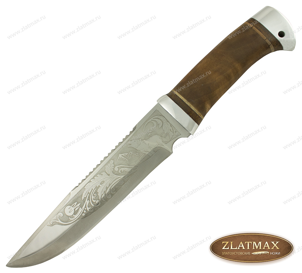 Нож охотничий НС-05 (40Х10С2М, Берёзовый кап, Алюминий) фото-01