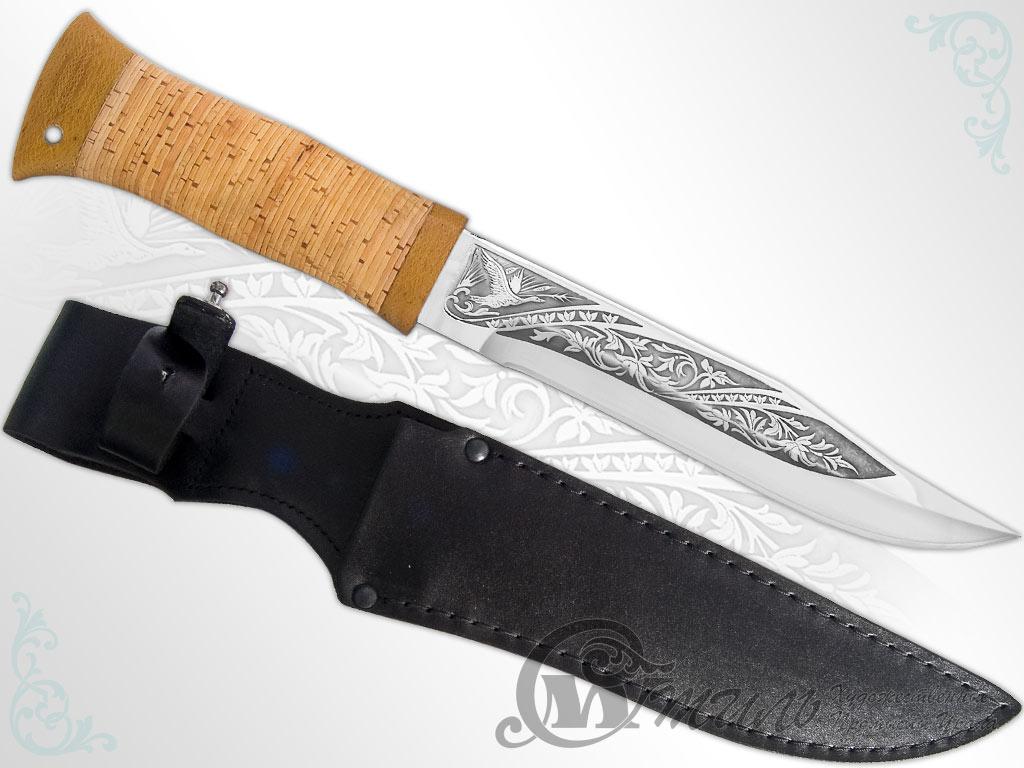 Нож охотничий НС-09 (40Х10С2М, Наборная береста, Текстолит) фото-01