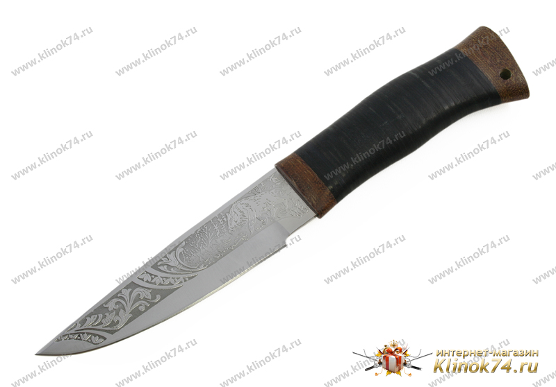 Нож охотничий НС-10 (40Х10С2М, Наборная кожа, Текстолит) фото-01