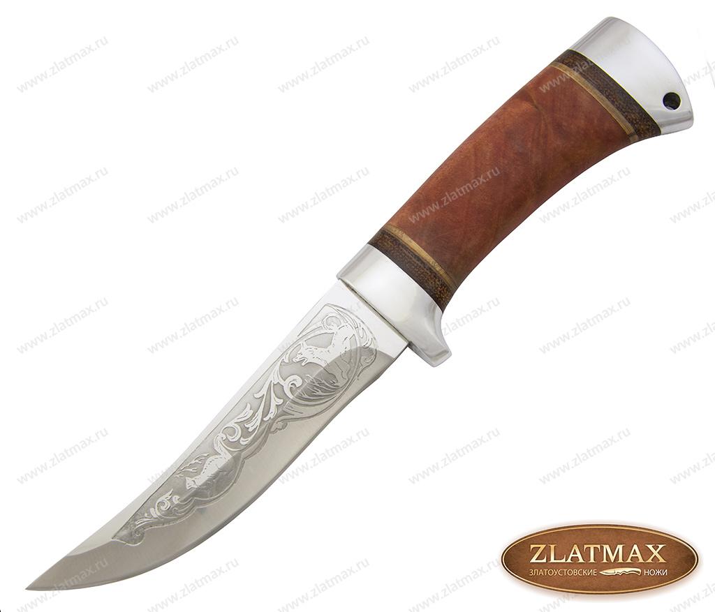 Нож охотничий НС-11 (40Х10С2М, Берёзовый кап, Алюминий) фото-01