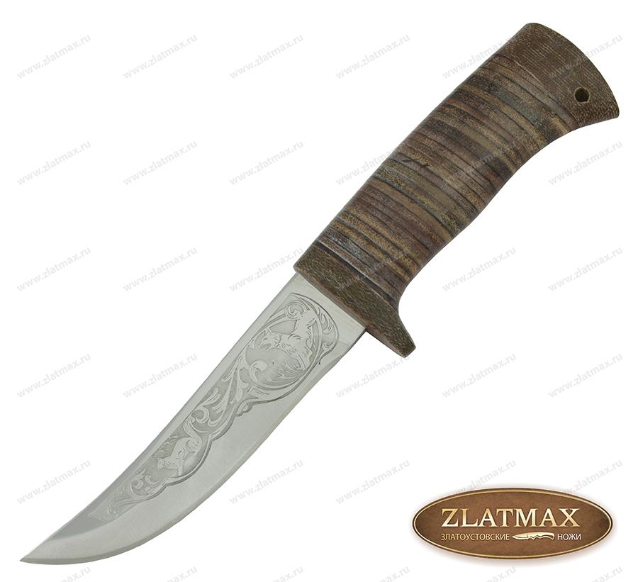 Нож охотничий НС-11 (40Х10С2М, Наборная кожа, Текстолит) фото-01