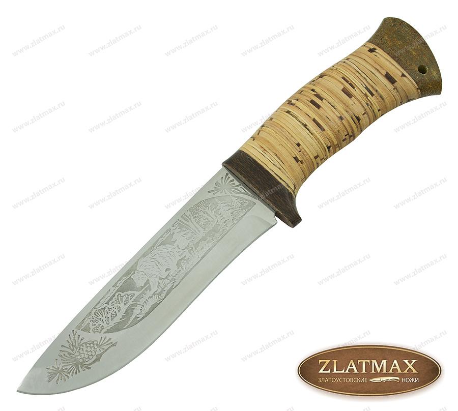 Нож охотничий НС-12 (40Х10С2М, Наборная береста, Текстолит) фото 01