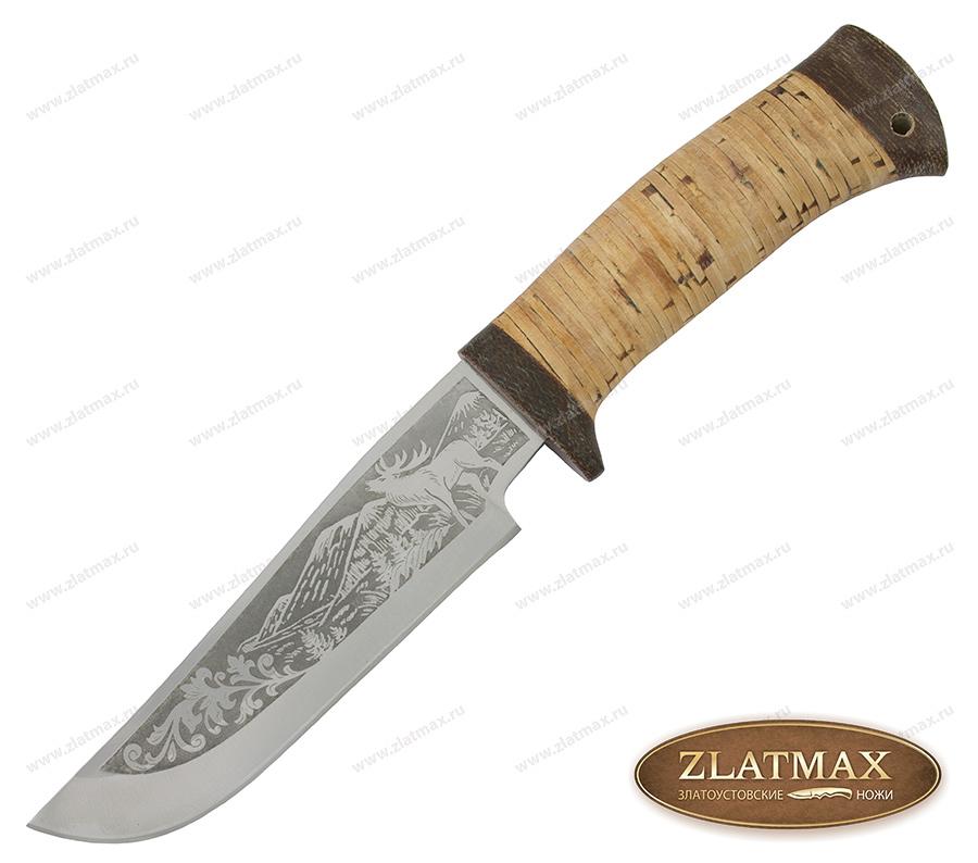 Нож туристический НС-14 (40Х10С2М, Наборная береста, Текстолит) фото-01