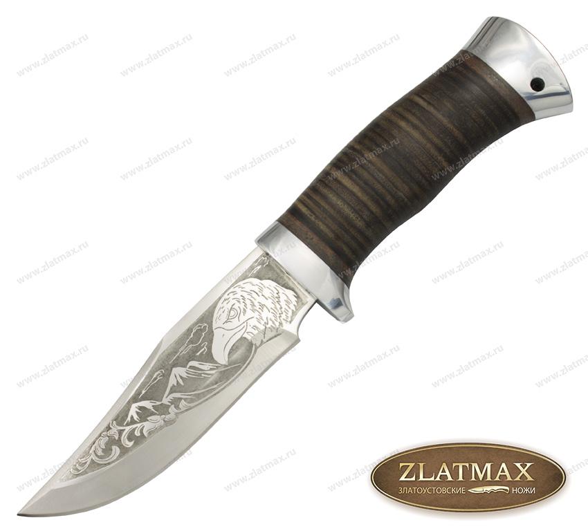 Нож туристический НС-15 (40Х10С2М, Наборная кожа, Алюминий) фото-01