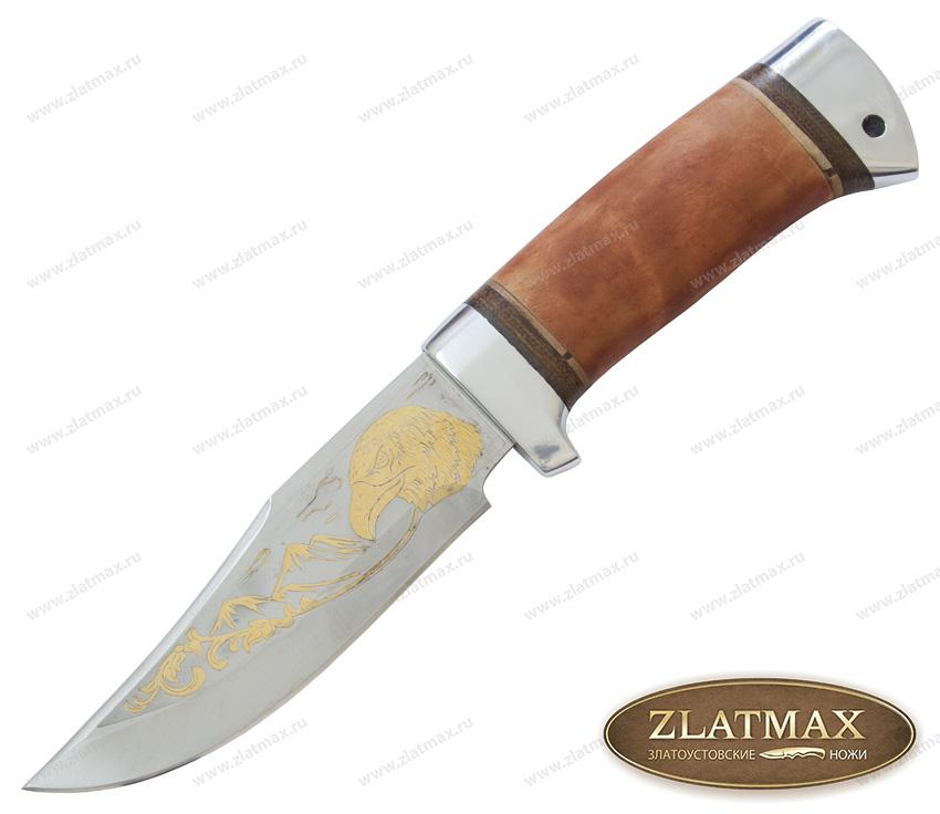 Нож туристический НС-15 (40Х10С2М, Берёзовый кап, Алюминий) фото 01